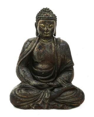 Lot 129 - A gilt-lacquered wood Buddha