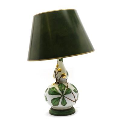 Lot 99 - A porcelain table lamp